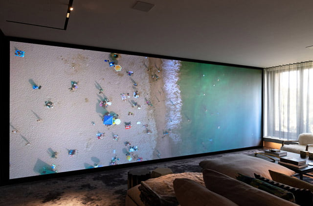 Full wall projector screen